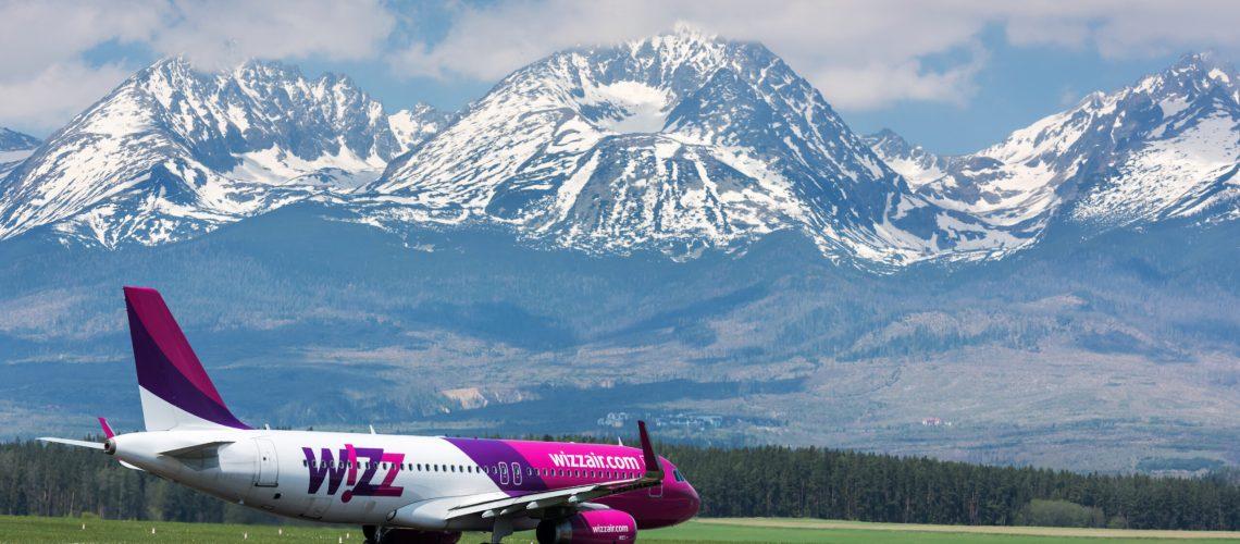 Wizz,Air,Plane,Ready,To,Take,Off,On,The,Poprad